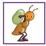 Карточка с муравьем для дидактической игры
