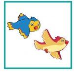Карточка с птичками для дидактической игры