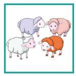 Карточка с овцами для дидактической игры