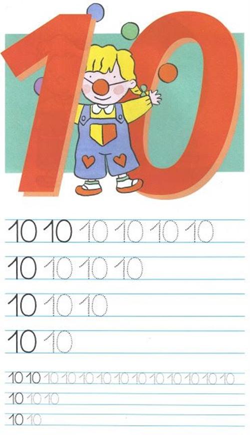 Как писать цифру 10