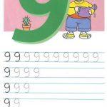 Как писать цифру 9