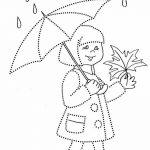 Обводилка девочка под зонтом
