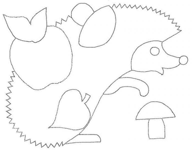 Рисунок ёжика для поделки 43