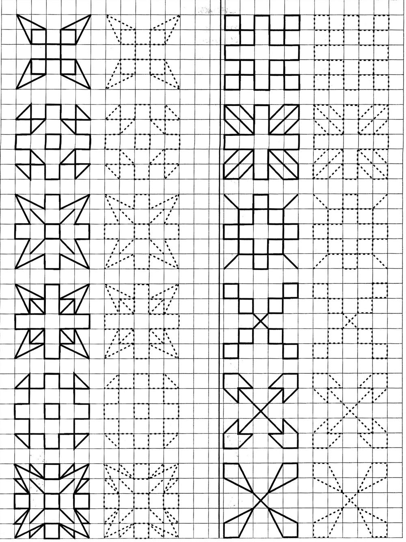 Рисунки по клеточкам в тетради карандашом схема