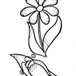 Штриховка цветок