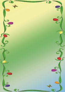Фон с цветами и бабочкой