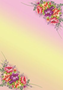 Фон с цветами