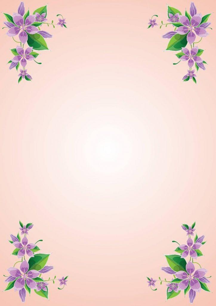 Фон с фиолетовыми цветами