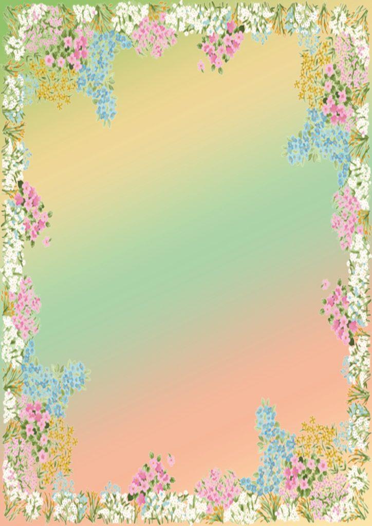 Фон с травой и цветами