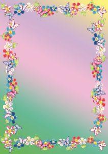 Фон с яркими цветами