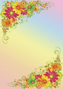 Фон с большими цветами