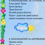 """Фрагмент 1 второго плаката """"Наблюдения летом"""""""