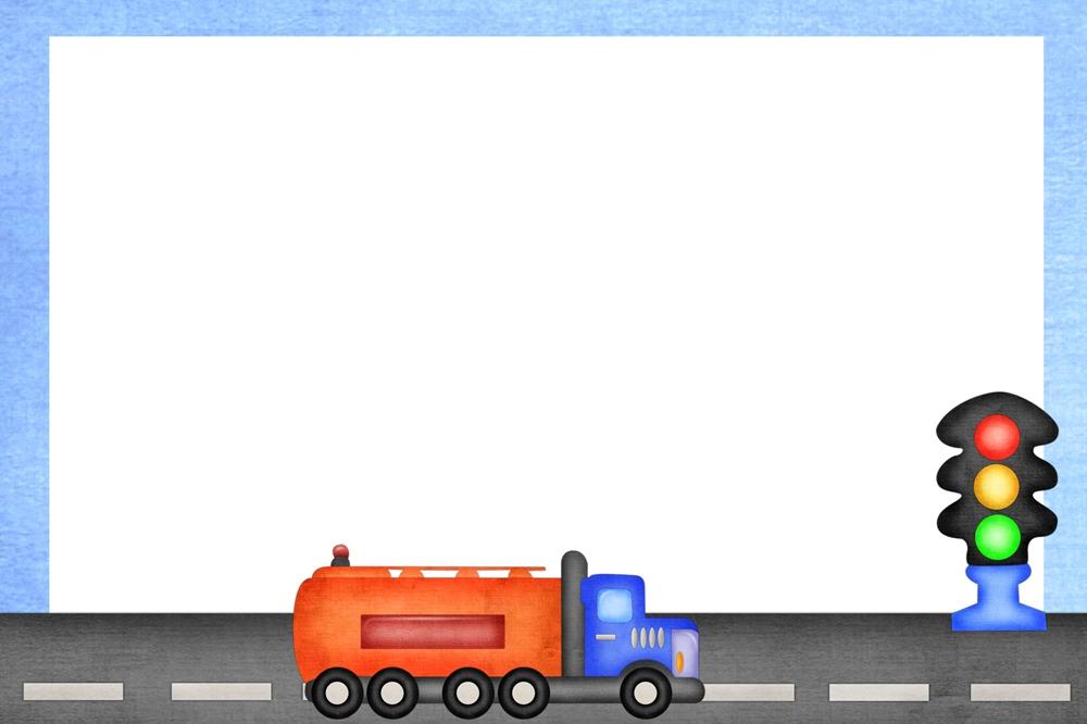 Фон по ПДД с фурой и светофором