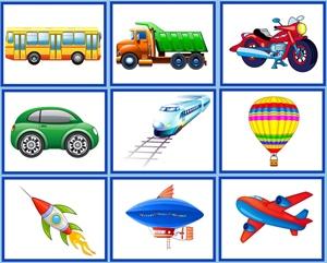Виды транспорта для детей в картинках