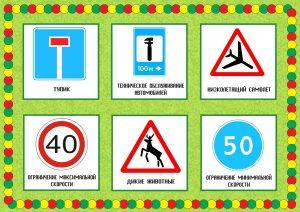 Лото дорожные знаки карта 7