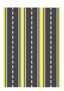 Узкая желтая дорога для машинок