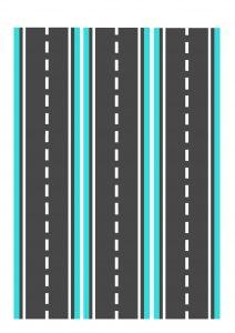 Дорога голубая узкая для машинок