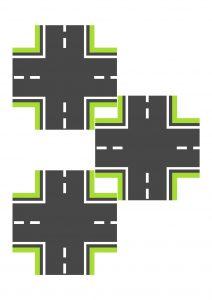 Перекресток зеленый узкий для машинок