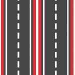 Широкая красная дорога для машинок