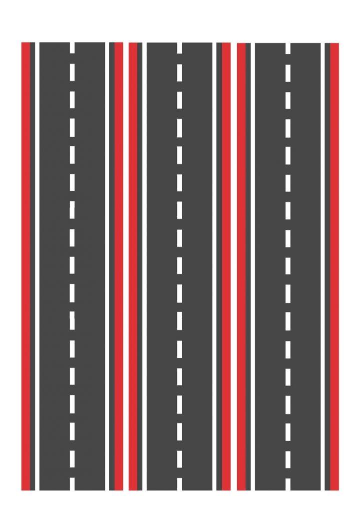 Дорога узкая красная для машинок