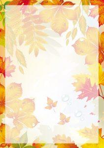 Прозрачный фон осень с непрозрачной рамкой