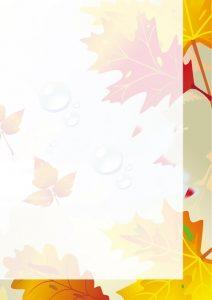 Прозрачный фон осени без рамочки фрагмент 4