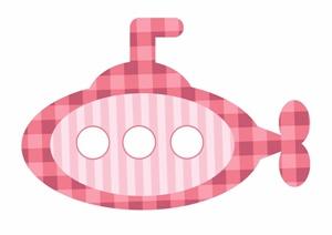 Аппликация подводная лодка