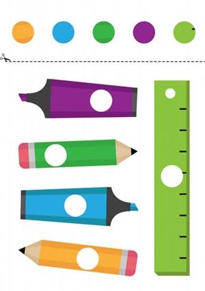 Дидактическая игра «Вырежи и подбери цвет»