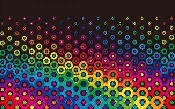 Фон с разноцветными кружочками