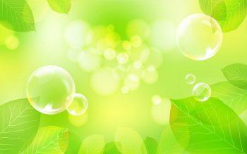 Абстракция пузыри возле листвы