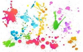 Фон с кляксами от красок
