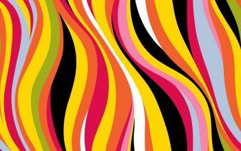 Абстракция с волнами разного цвета
