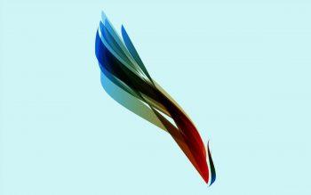 Фон с разноцветным пером