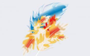 Абстракция с цветными перьями