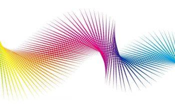 Абстракция спираль на белом фоне