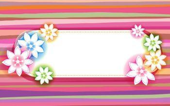 Абстракция с цветами на ярком фоне