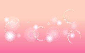 Светло-розовая абстракция с пузырьками
