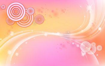 Кружки на бледно-розовом фоне