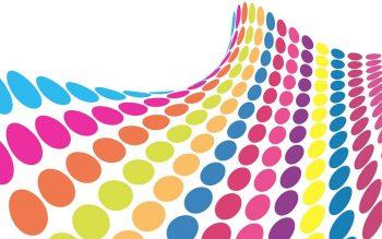 Абстракция с цветными кругами
