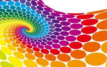 Абстракция с цветными кругами по спирали