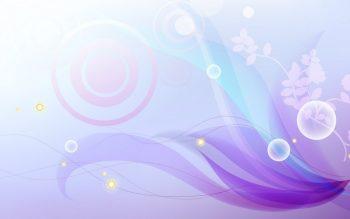Фиолетовая прозрачная абстракция с растениями
