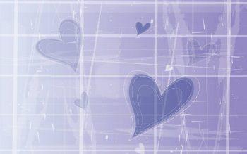 Абстракция с нежными фиолетовыми сердечками