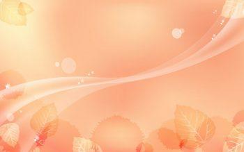 Листочки на персиковом фоне