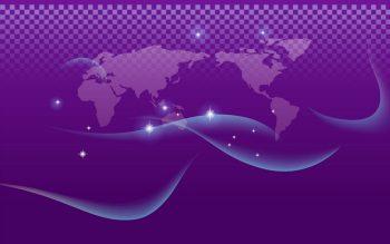 Абстракция с картой мира