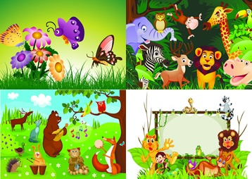 Фон животные для детей