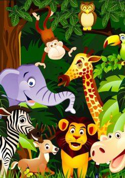 Фон с африканскими животными вертикальный для оформления
