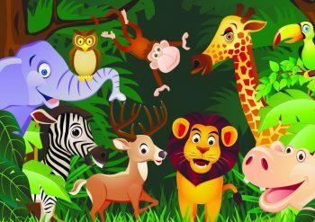 Горизонтальный фон с африканскими животными