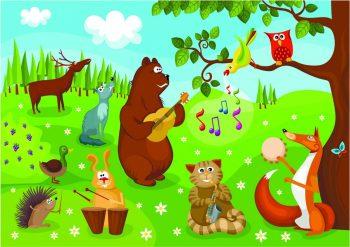 Лесные животные на инструментах