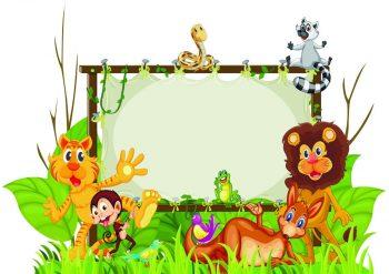 Пустой фон с животными