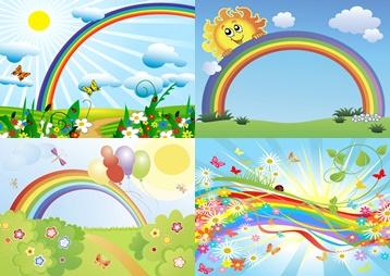 Фон радуга для детей
